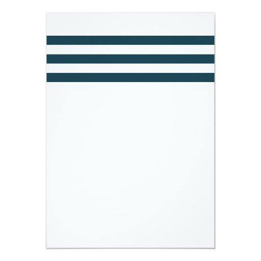 Gold Anchor Nautical Stripes Bridal Shower 5x7 Paper Invitation Card (back side)