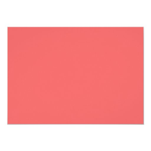 """Coral and Mint Modern Floral Wedding Invitation 5"""" X 7"""" Invitation Card (back side)"""
