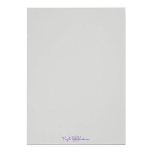 "Modern Communion Invitation Quatrefoil for Boys 5"" X 7"" Invitation Card (back side)"