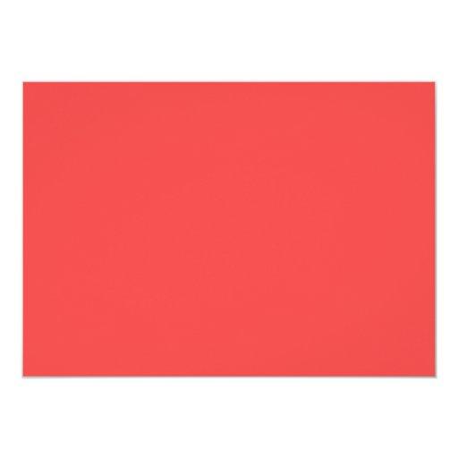 Coral Red Beach Theme Seashells Bridal Shower 5x7 Paper Invitation Card (back side)