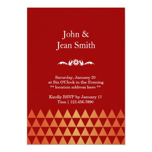 """Luxury Ruby Gems 40th Anniversary Party Invites 5"""" X 7"""" Invitation Card (back side)"""