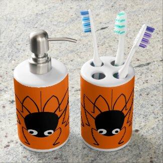 Halloween Spider Orange 2-Piece Bathroom Sets