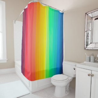 Colored Stripes Background Shower Curtain