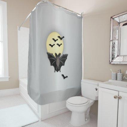 Halloween Bat Shower Curtain