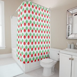 Christmas Ornament pattern Shower Curtain