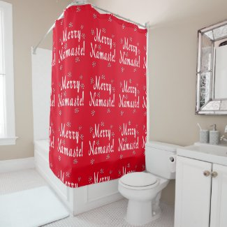 Merry Namaste Shower Curtain