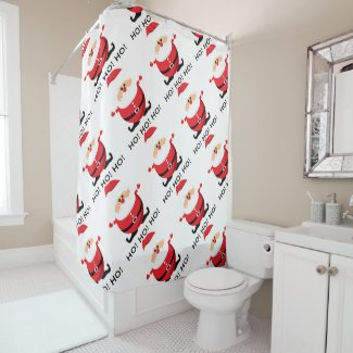 Ho Ho Ho Santa Claus Shower Curtain