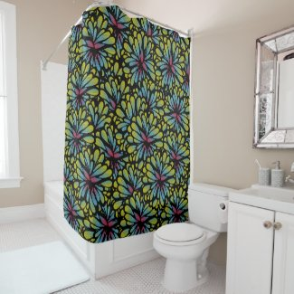 Funky Flower Personal Shower Curtain
