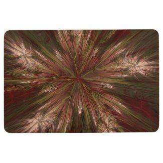 Autumn Burst Fractal Floor Mat