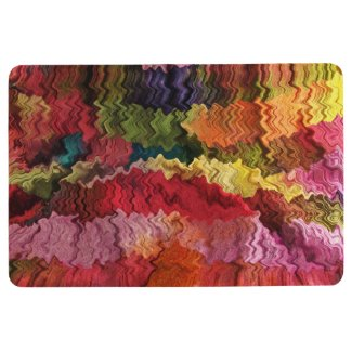 Red Orange Pink Yellow Green Abstract Floor Mat
