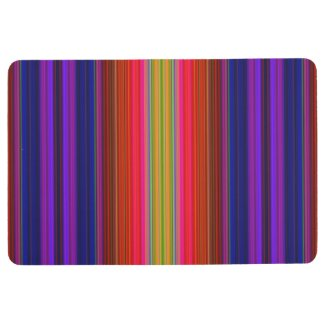 Colorful Rainbow Spectrum Stripes Floor Mat