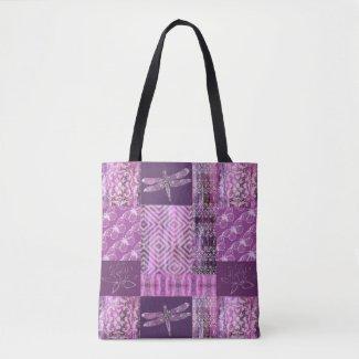 Purple Patina: Mosaic Tote Bag