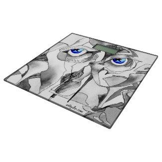 Blue eyes graffiti bathroom scale
