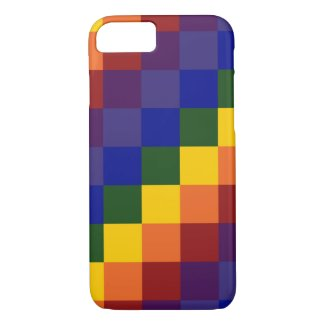 Checkered Rainbow Pattern iPhone 7 Case