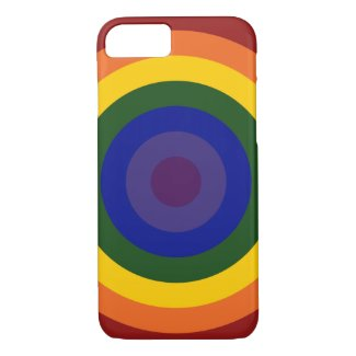 Rainbow Bullseye LGBT Pride iPhone 7 Case