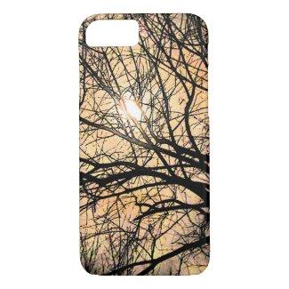 Orange Mystical Moon and Tree iPhone 7 Case