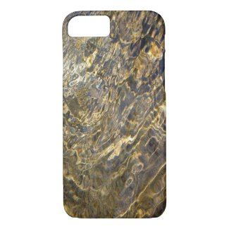 Abstract Golden Water Patterns iPhone 7 Case