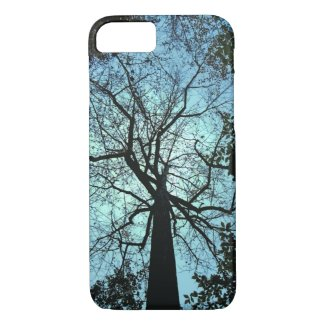 Blue and Black Up the Tree iPhone 7 Case