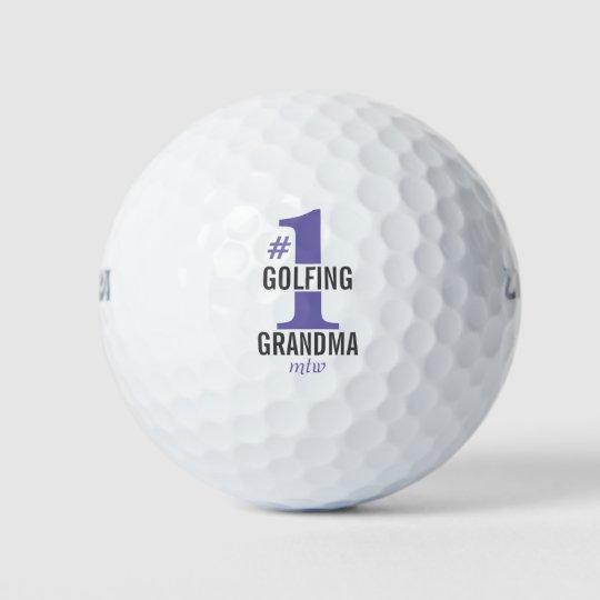 Balls #1 Golfing Grandma Monogrammed Great Mother's Day Gift for Grandmother