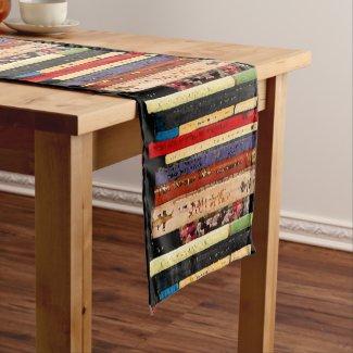 Books Abstract Short Table Runner