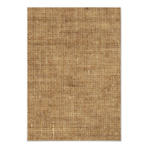 Rustic Burlap Lace Wedding RSVP 3.5x5 Paper Invitation Card (back side)