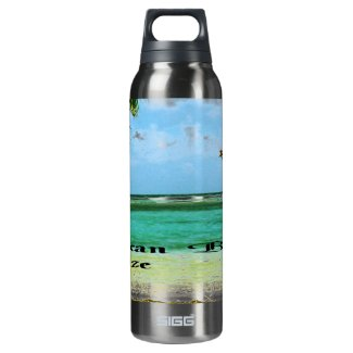 Pelican Beach Belize Thermos Bottle