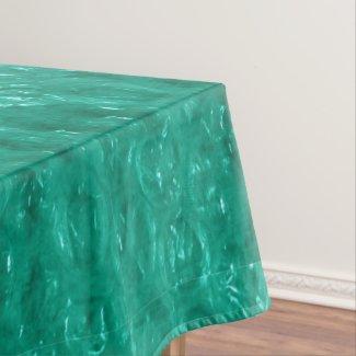 Blue Green Cellophane Tablecloth