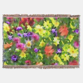 Flower Garden Throw Blanket
