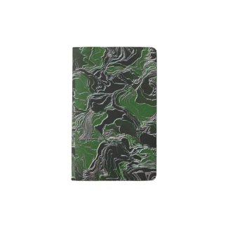 Funky Green Camo Pocket Moleskine Notebook