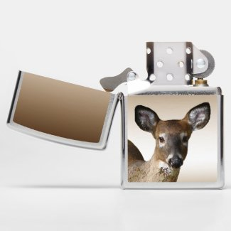 Brown White Tailed Deer Wildlife Animal Zippo Lighter