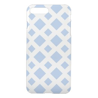 Light Blue Diamonds on White iPhone 7 Plus Case