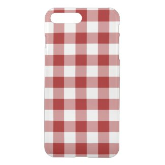 Red and Transparent Gingham iPhone 7 Plus Case