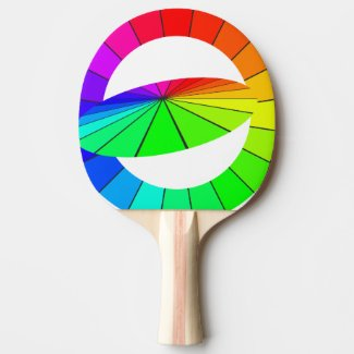 Rainbow Art Optical Illusion Table Tennis Gifts Ping Pong Paddle