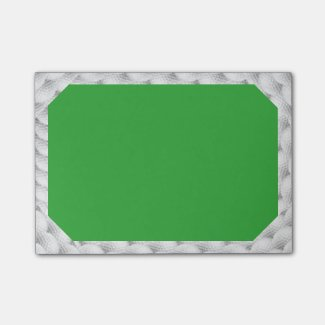 3x4 Golf Themed Post it notes