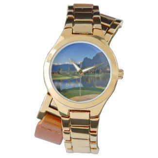 Beautiful Golf Course scene on a womens watch