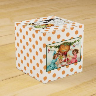 Vintage Halloween Candy Favor Box