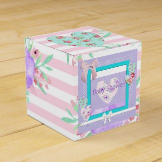 Pink, Purple and Floral Candy Box Favors