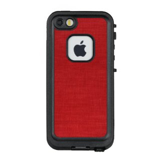 Red Linen Fabric Texture Photo LifeProof® FRĒ® iPhone 5 Case