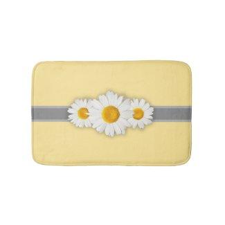 Spring Daisies Yellow Bathroom Bath Mat Anti-Skid