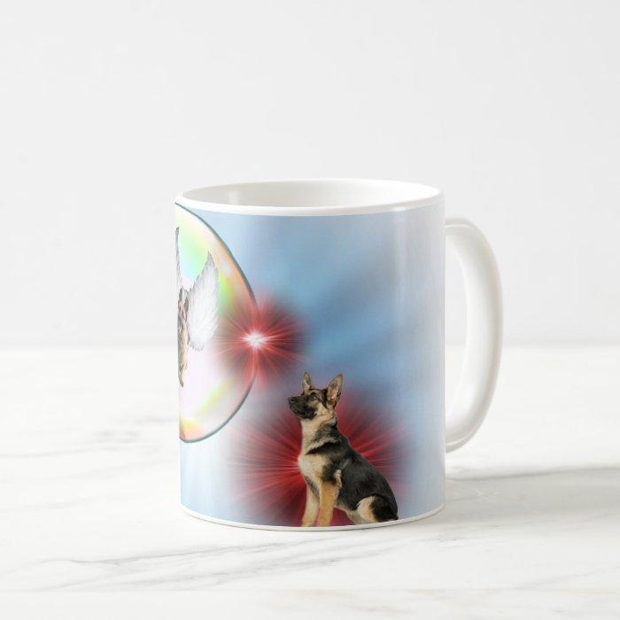 German Shepherd Angel Flying Coffee Mug