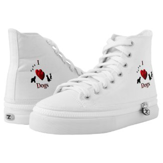 I Heart Dogs High-Top Sneakers