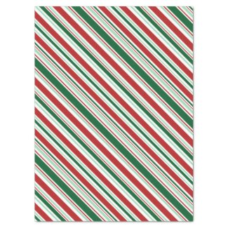 Christmas Candy Stripes Tissue Paper