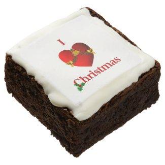 I Heart Christmas Chocolate Brownie