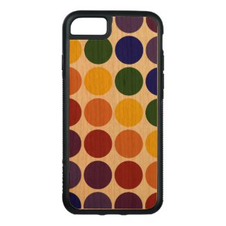 Rainbow Polka Dots on Transparent Background Carved iPhone 7 Case