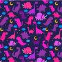 Kids Dinosaurs At Night Girls Pink Purple Cute Fleece Blanket