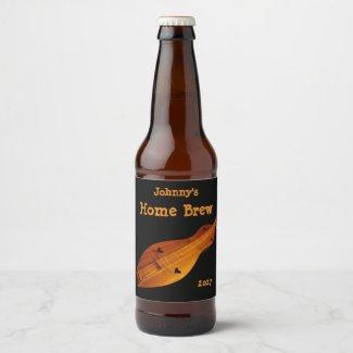 Dulcimer Music Beer Label