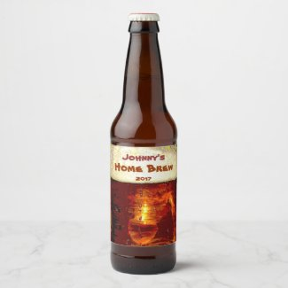 Suds and Foam Beer Label