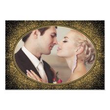Art Deco Vintage Photo Wedding Thank You Cards