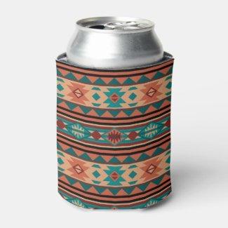 Southwestern Design Turquoise Terracotta Bottle Cooler