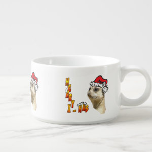 Christmas Meerkat Chili Bowl